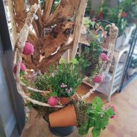 Art floral Valenciennes Hé fleur et moi fleuriste atelier décor d exterieur