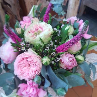 Bouquet rose idee cadeau mariage anniversaire naissance Hé fleur et moi fleuriste de Valenciennes bouquet