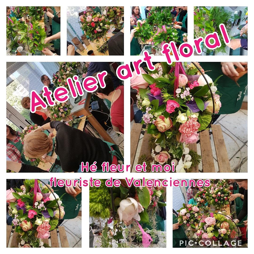 Bon cadeau art floral anniversaire retraite hé fleur et moi Valenciennes