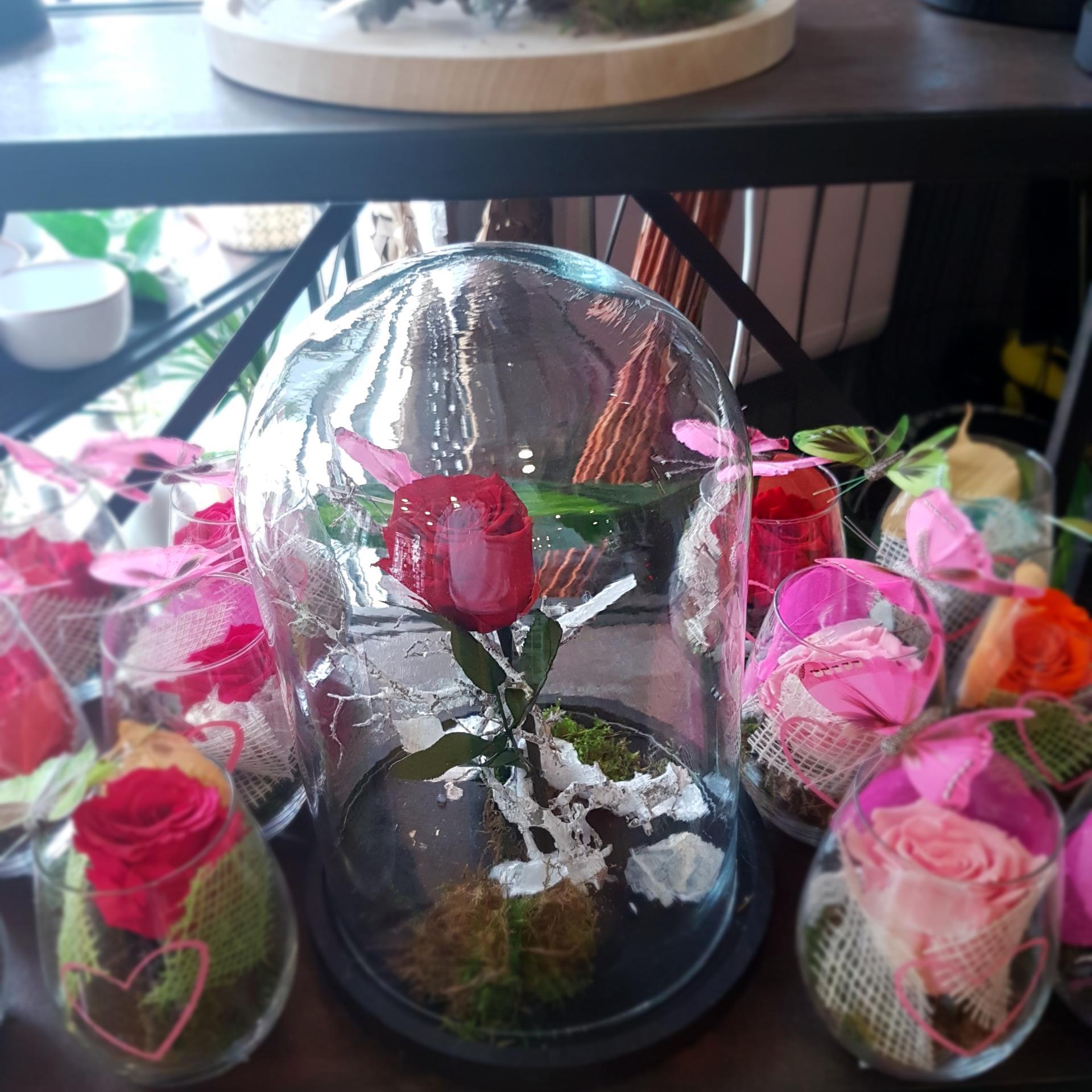 Rose éternelle mariage anniversaire naissance chez hé fleur et moi fleuriste Valenciennes