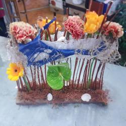 Atelier art floral centre de table Fleuriste Hé Fleur et moi Valenciennes