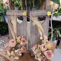 Bouquet fleurs sèchées rétro chic fleuriste Hé fleur et moi Valenciennes Anzin la Sentinelle