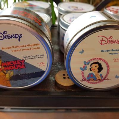 Bougie parfumée Disney fleuriste de Valenciennes Hé fleur et moi fleuriste de Valenciennes