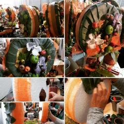 Art floral Valenciennes Hé fleur et moi fleuriste atelier décor automnal