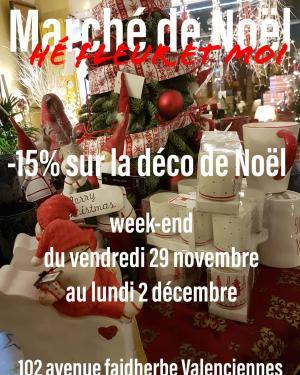 Marché de Noël Valenciennes Hé  fleur et moi fleuriste de Valenciennes