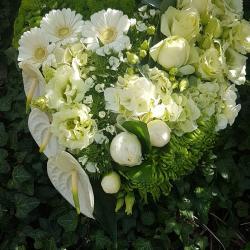 Deuil coeur Hé fleur et moi fleuriste de Valenciennes