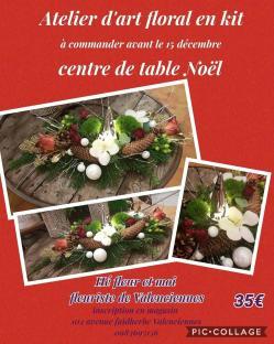 Centre de table Hé fleur et moi fleuriste de Valenciennes