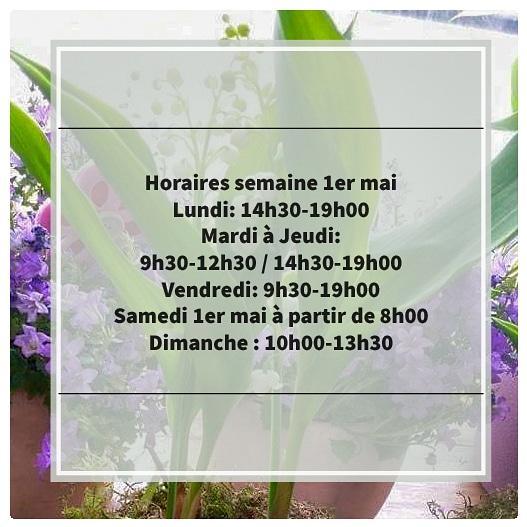 Horaires 1er mai muguet Valenciennes