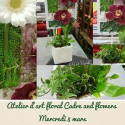 Atelier D'art Floral Cadre and flowers by Hé fleur et moi fleuriste nord Hainaut Valenciennes