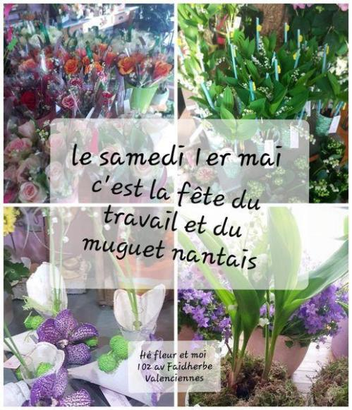 Muguet 1er mai fleuriste valenciennes Anzin La Sentinelle
