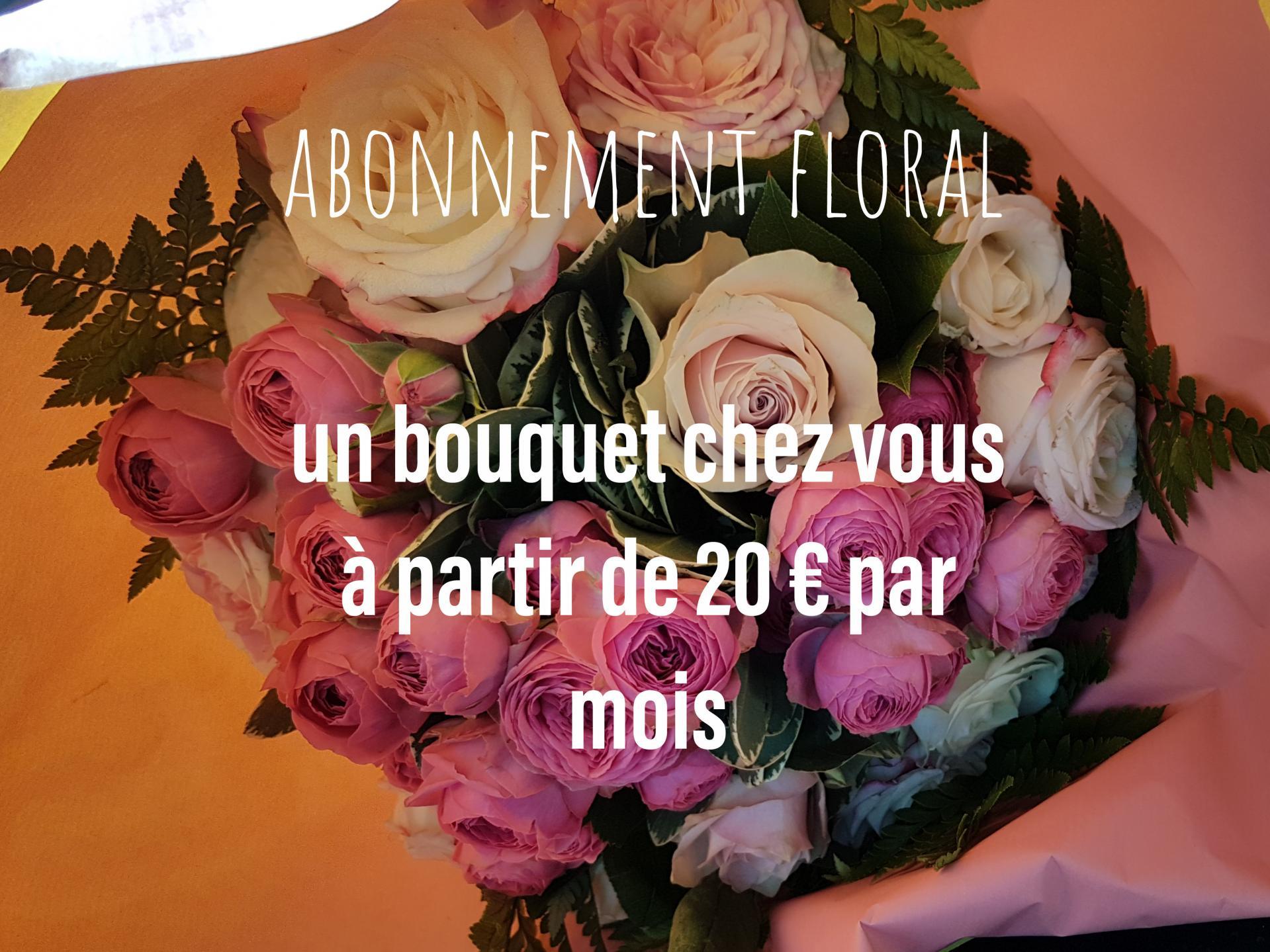 Abonnement floral fleuriste Hé fleur et moi fleuriste de Valenciennes bouquet