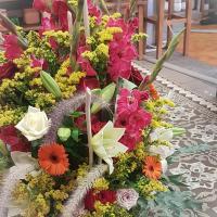 Coussin conique deuil Hé fleur et moi fleuriste de Valenciennes