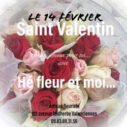 Saint Valentin Valenciennes Hé fleur et moi fleuriste rose amour