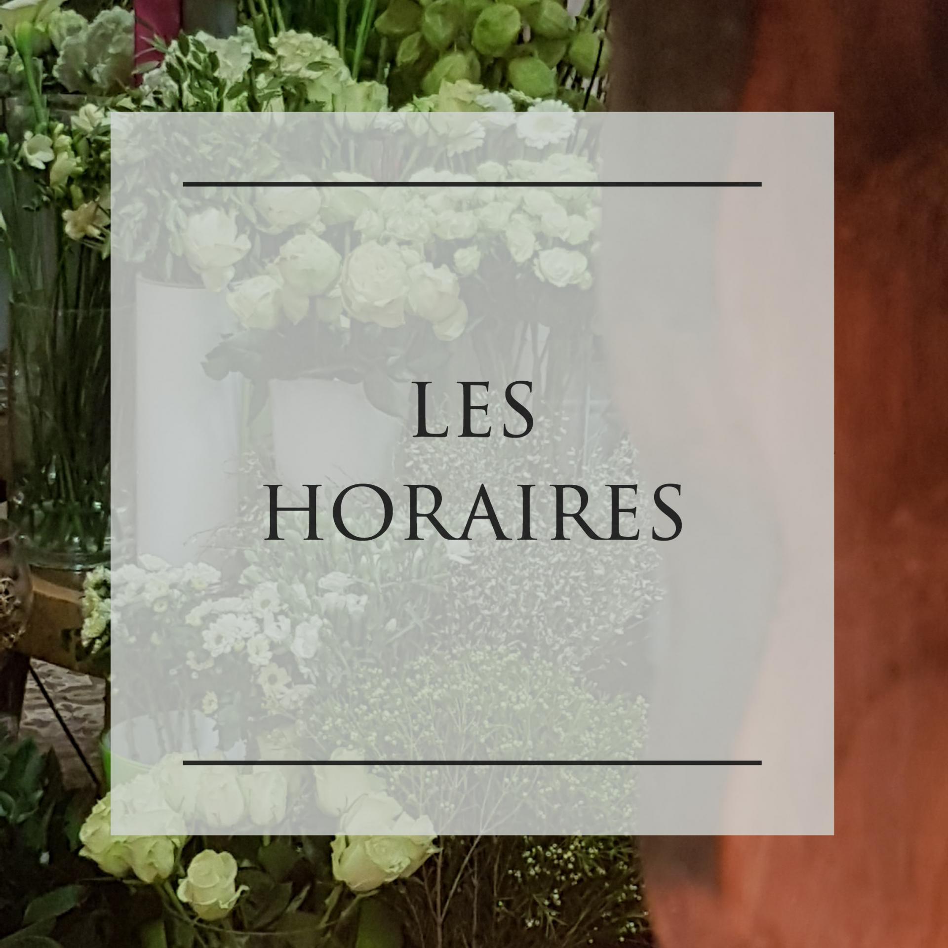 Horaires fleuriste Hé fleur et moi Valenciennes ouvert du Lundi au dimanche