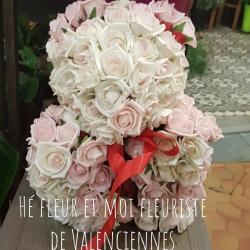 Oursons d amour saint Valentin roses Valenciennes Hé fleur et moi fleuriste de