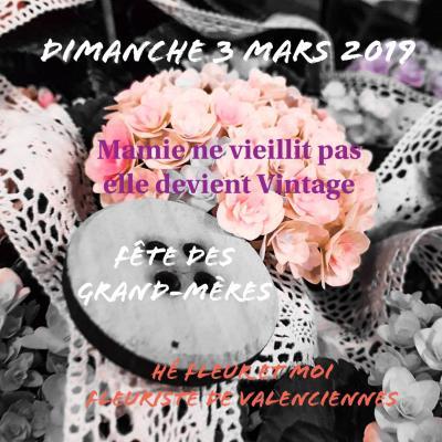 Le dimanche 3 mars                 C'est la fête des grand-mères  Si toi aussi tu trouves que ta mamie ne vieillit pas, elle devient juste