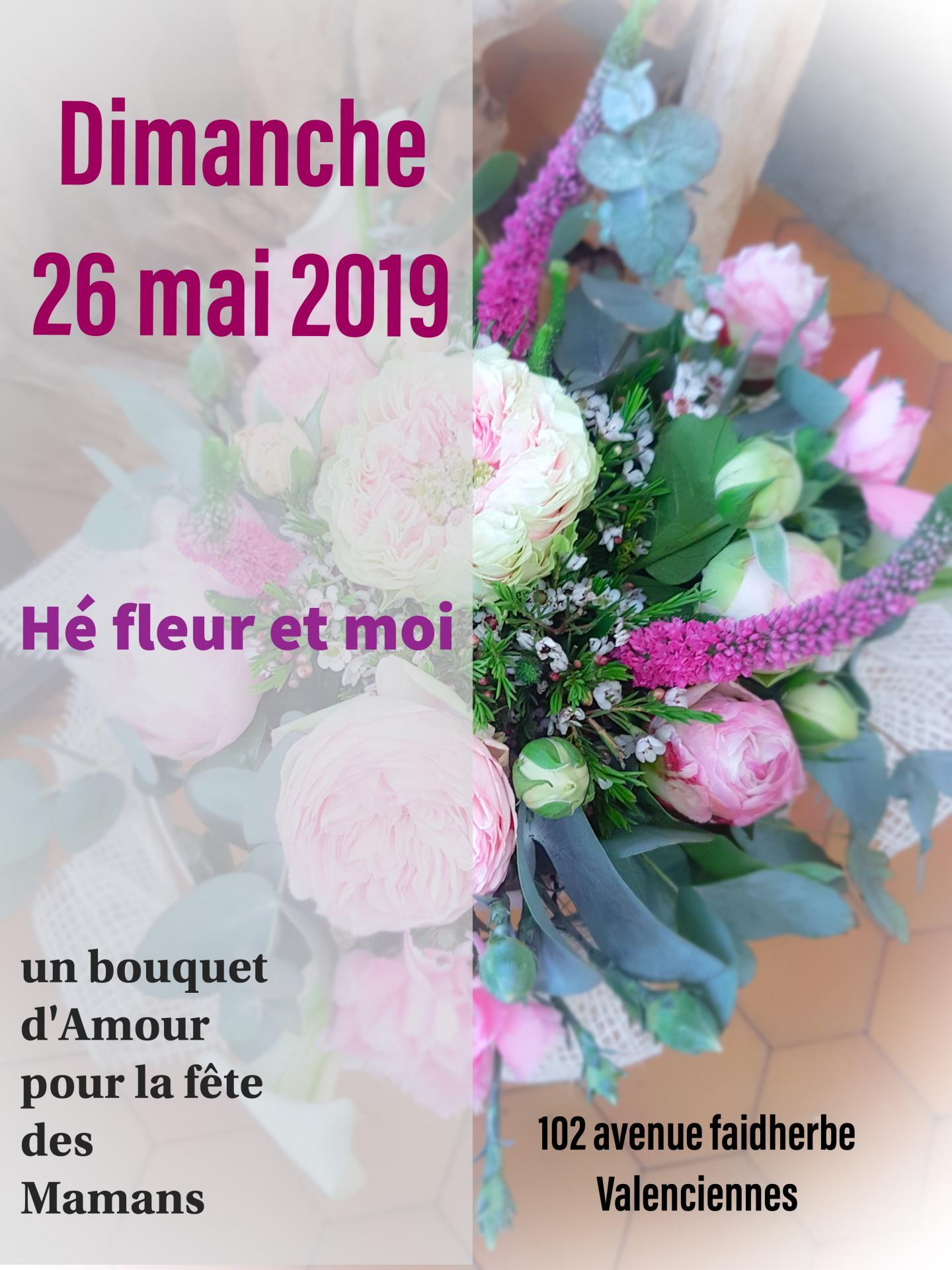 fete des mères chez hé fleur et moi fleuriste de Valenciennes bouquet