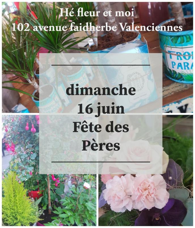 Fete des pères chez hé fleur et moi fleuriste de Valenciennes bouquet