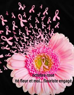 Octobre rose Hé fleur et moi fleuriste de Valenciennes bouquet