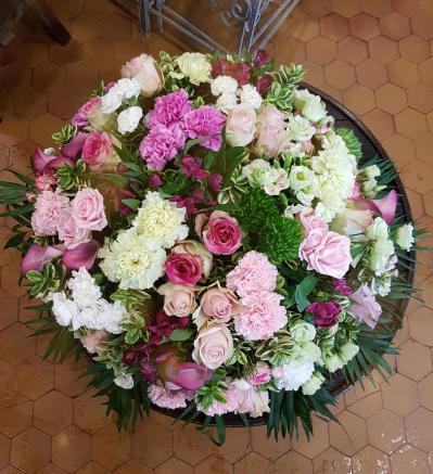 Coussin de fleurs pour deuil enterrement Valenciennes