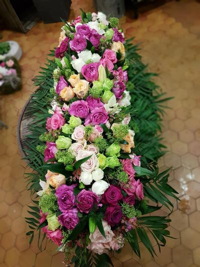 Dessus de cercueil Hé fleur et moi fleuriste de Valenciennes