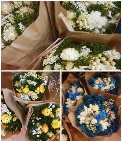 Fleur sèchée bouquet Hé fleur et moi fleuriste de Valenciennes