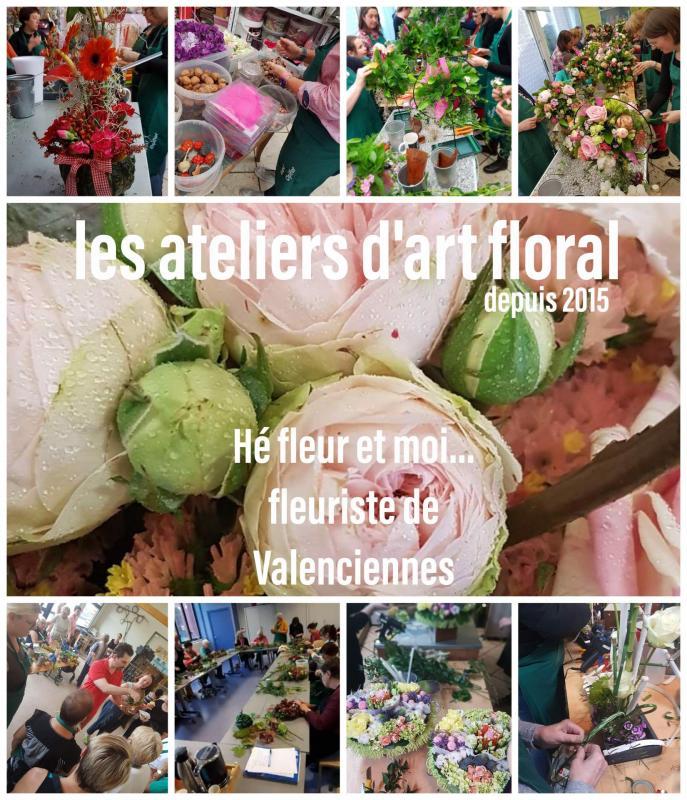 Atelier cours d'art floral Nord Hainaut Valenciennes Anzin Marly la Sentinelle Petite-Foret saint Saulve