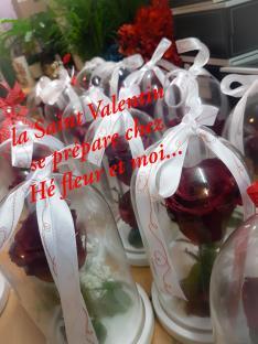 Saint Valentin 14 février 2021 fleuriste valenciennes rose nord amour bouquet hé fleur et moi
