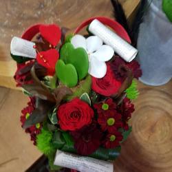 Bouquet coeur saint Valentin chez Hé fleur et moi Valenciennes fleuriste