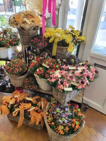 Bouquet de fleurs  séchées chez hé fleur et moi fleuriste de Valenciennes bouquet